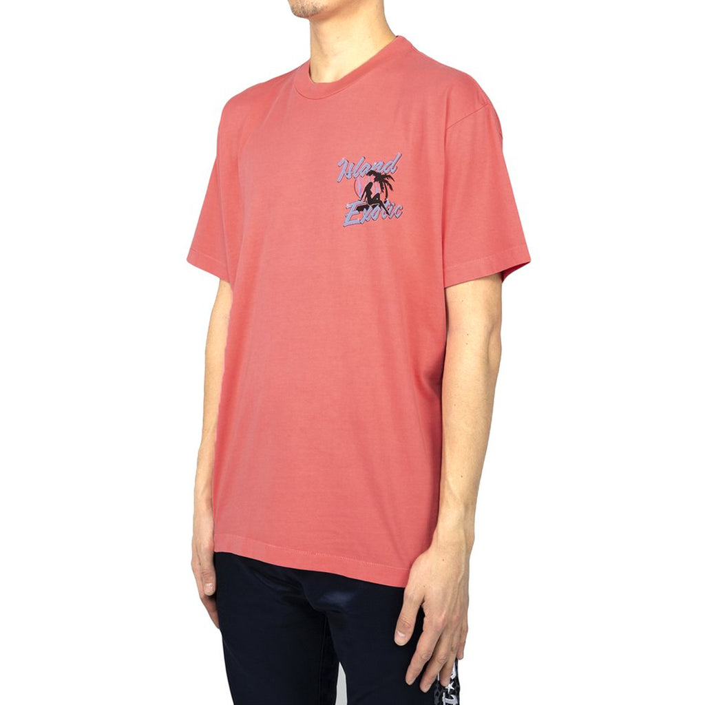 Just Don Island Girls S/S Crew Tee, Coral