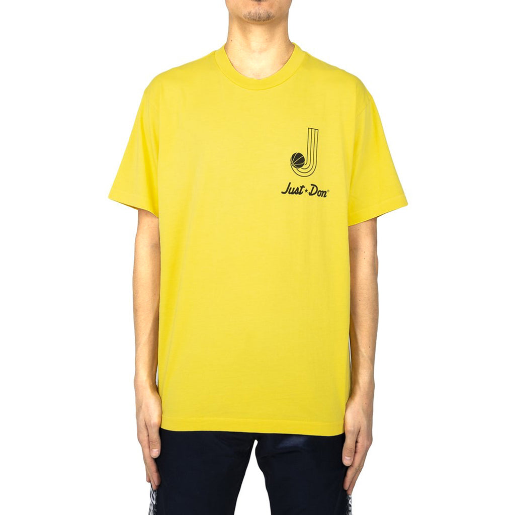 Just Don Record S/S Crew Tee, Yellow
