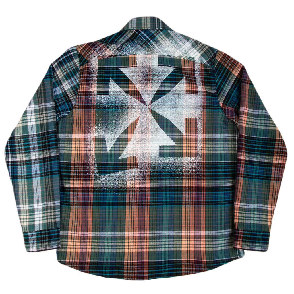 Off-White F20 Stencil Flannel Check Shirt, Blue/Black