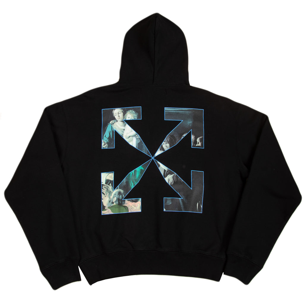 Off-White F20 Caravaggio Painting Over Hoodie, Black/Black