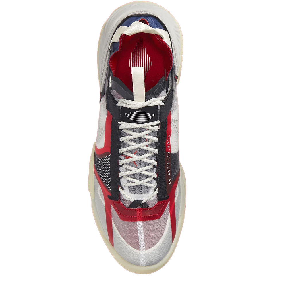 Jordan Delta Breathe, Clear/Medium Grey-Light Bone-Varsity Red