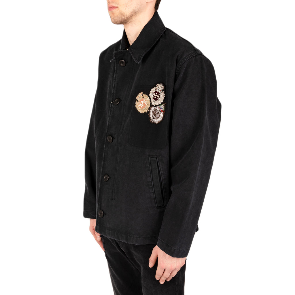 424 Canvas Deck Jacket, Washed Black
