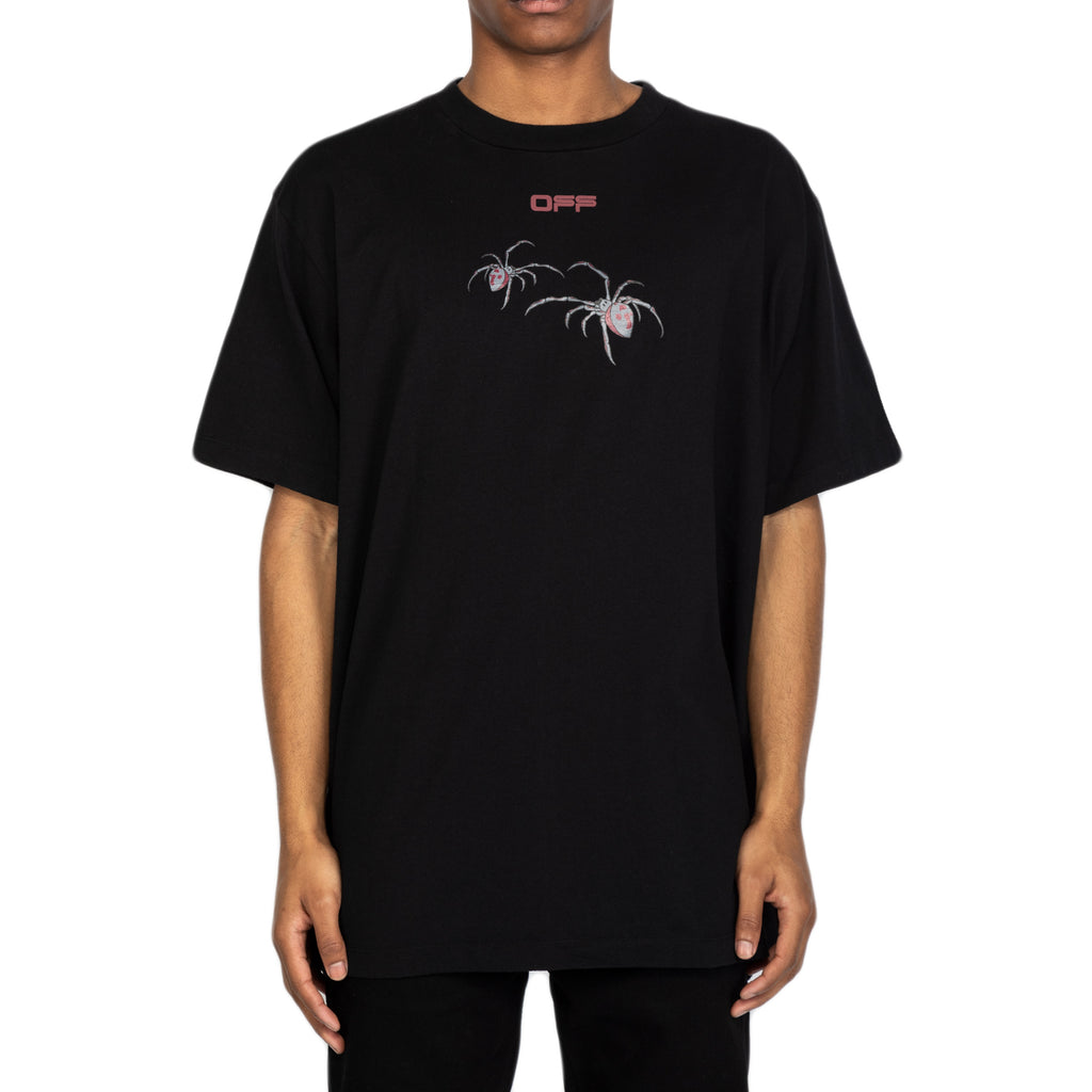 Off-White SS20 Arachno Arrow S/S Over Tee, Black/Bordeaux