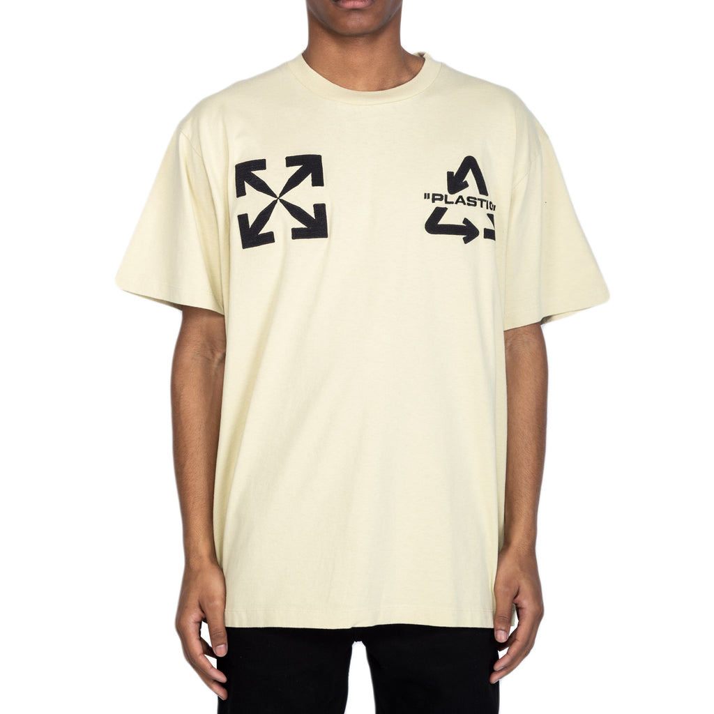 Off-White SS20 Universal Key S/S Over Tee, Sand/Black