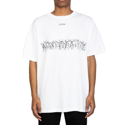 Off-White SS20 Futura Atoms S/S Over Tee, White/Multi