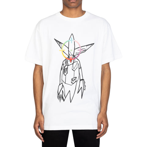 Off-White SS20 Futura Alien S/S Over Tee, White/Multi