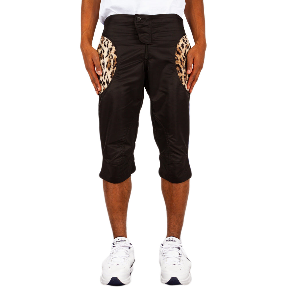 Martine Rose Moto Cross Short, Black/Leopard