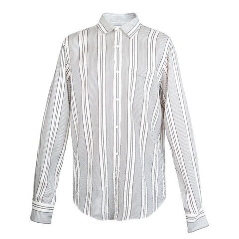 Faith Connexion Stripe Loose Shirt (Black/White)