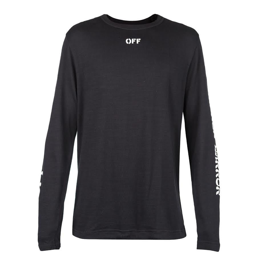 Off-White Quotes Long Sleeve Tee (Black)