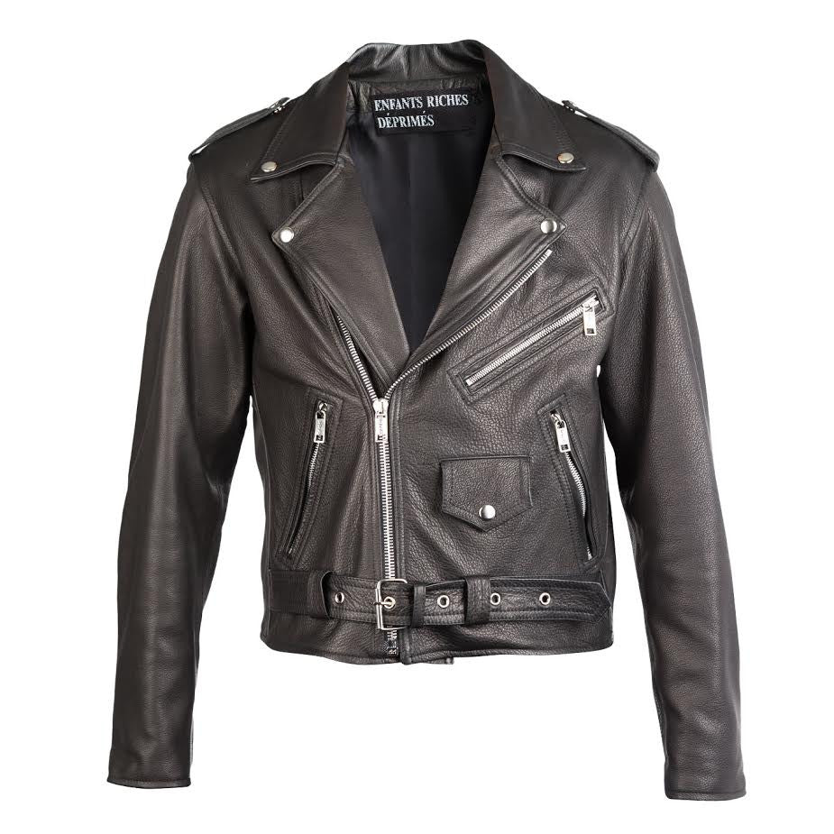 Enfants Riches Deprimes Cheakerboard Leather Jacket (Black)