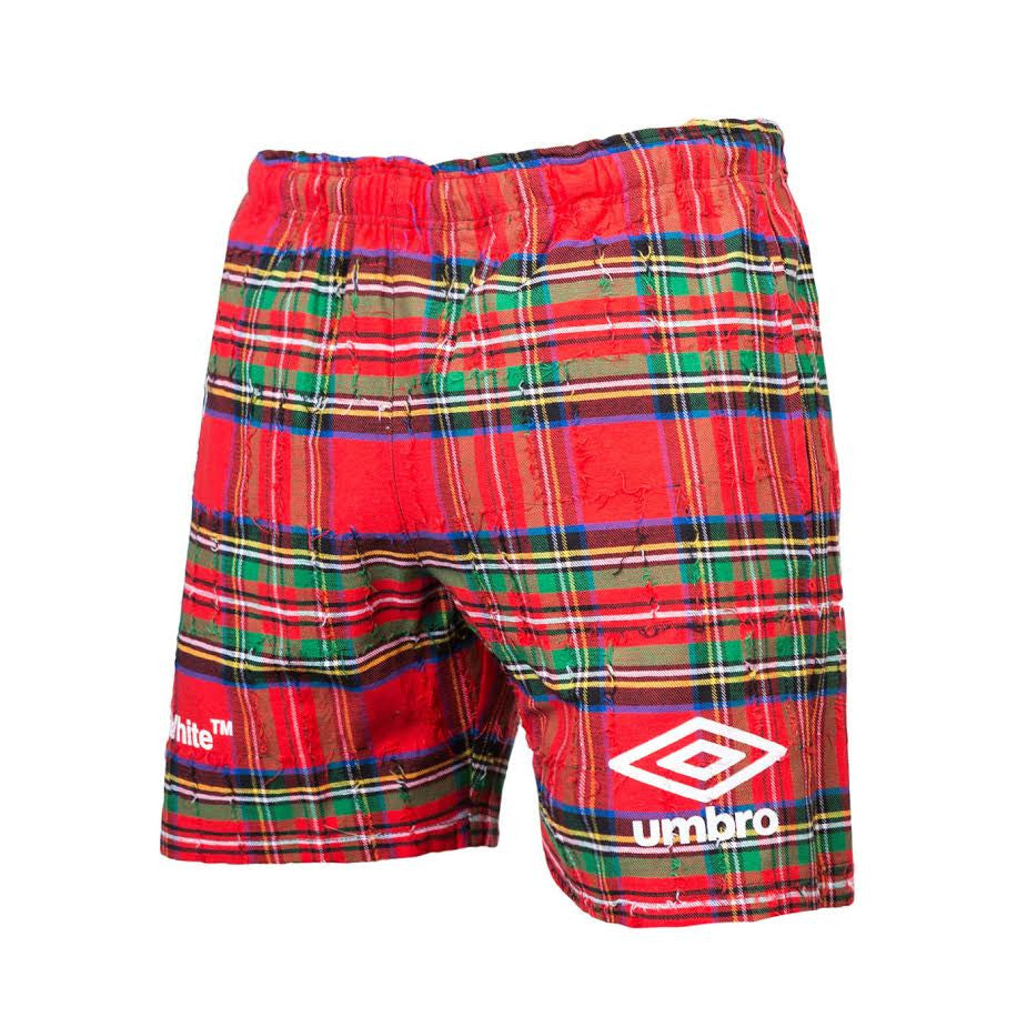 Off-White Umbro Check Shorts (Red)