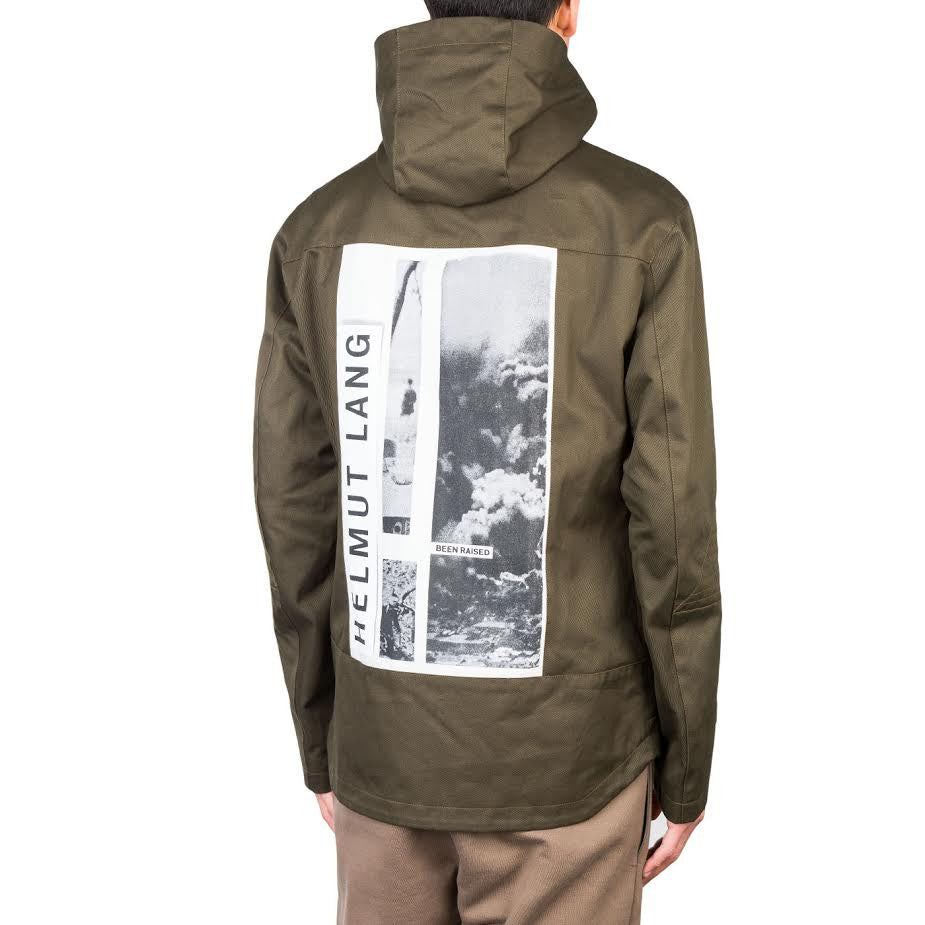 Helmut Lang x La Flame Debris Patch Hooded Jacket (Nato Green)