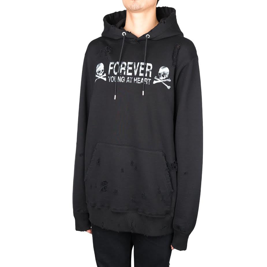 mastermind JAPAN Distressed Forever Hood (Black)