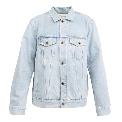 Off-White Angel Oversized Denim Jacket (Bleach)