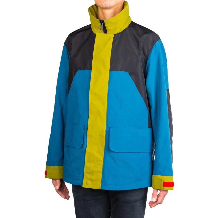 Acne MT2002 Combo Jacket (Black/Teal/Avocado)