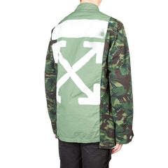 Off White Overdyed Field Jacket (Camo Green)