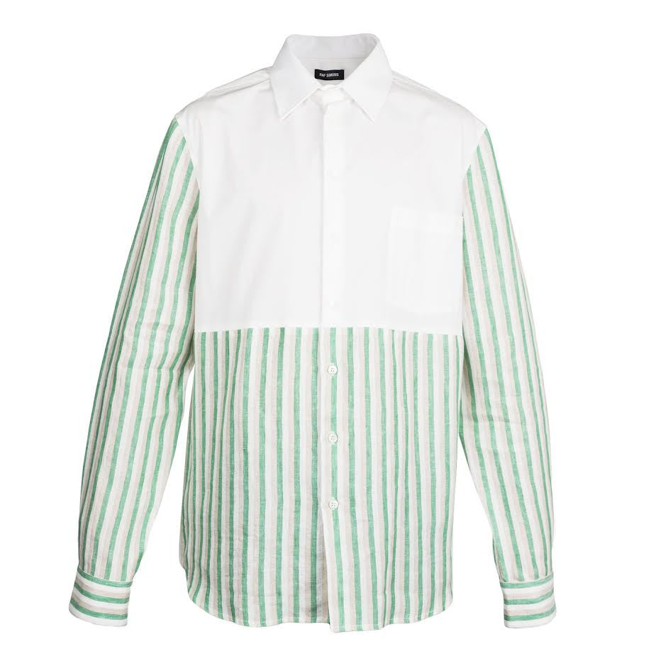 Raf Simons Cut Through Shirt  (White/Green)