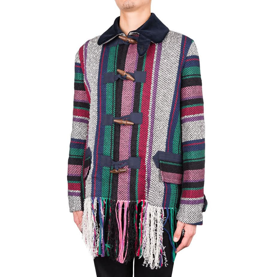 Sacai Mexican Stripe Knit Blouson (Red/Multi)