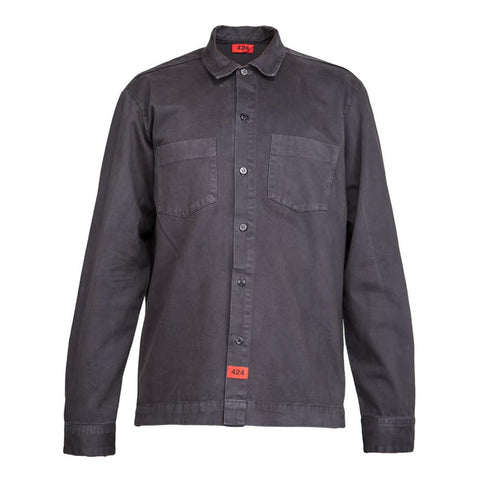 424 Button Up Work Shirt (Grey)