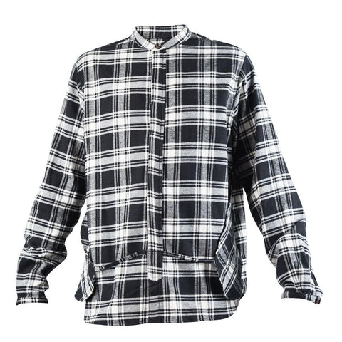 Mr. Completely Banded Collar Pocket Shirt (Black)