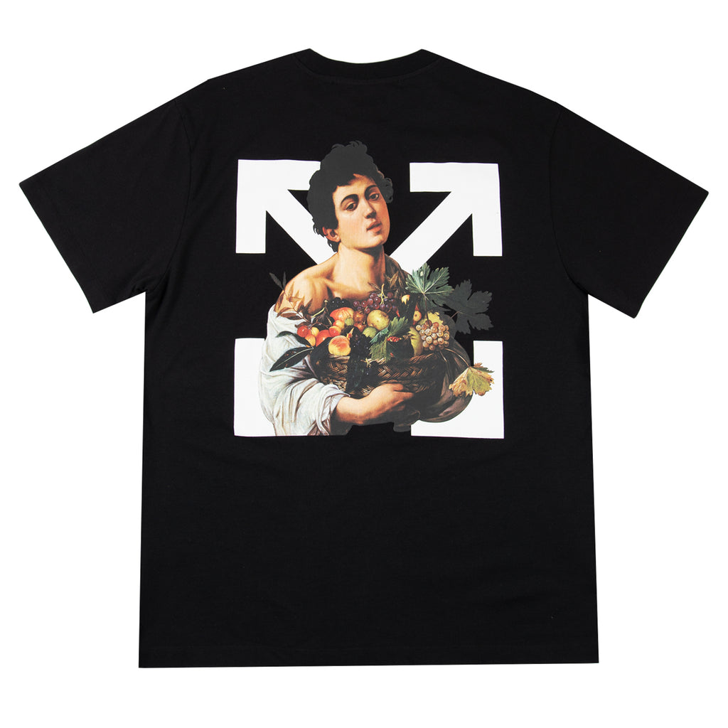 Off-White SS21 Caravaggio Boy S/S Over Tee, Black/White