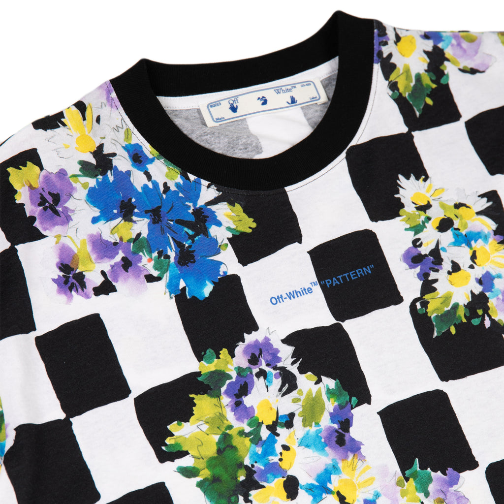 Off-White SS21 Check Flowers S/S Over Tee, Multi