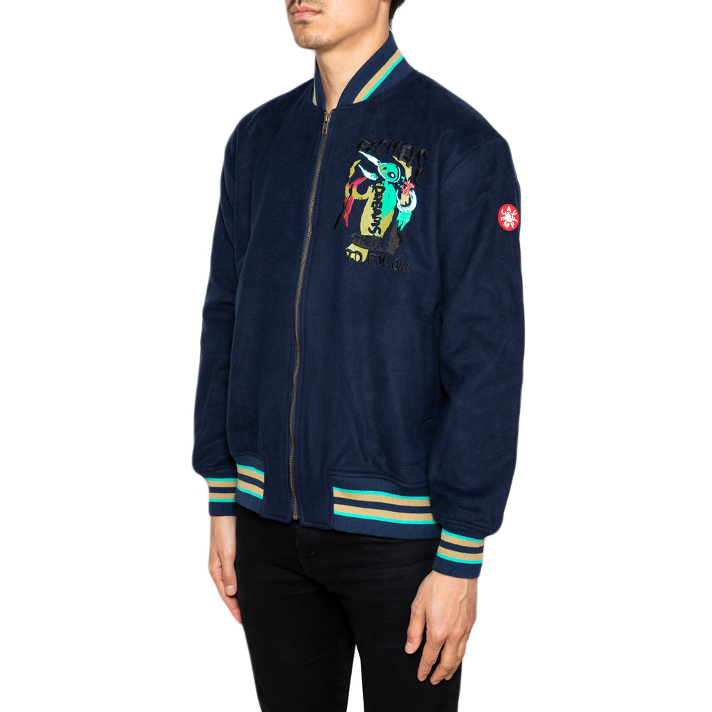 Cav Empt SS19 CoBrA Zip Jacket, Navy