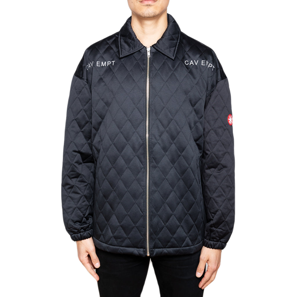 Cav Empt Quilt Zip Jacket, Black