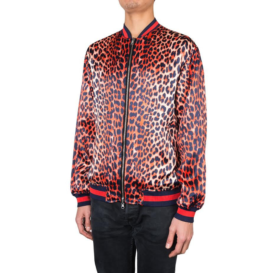 3.1 Phillip Lim Reversible Leopard Jacket (Navy/Orange)