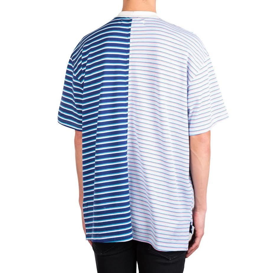 Mr Completely Pique Split S/S Tee (Split Sky)