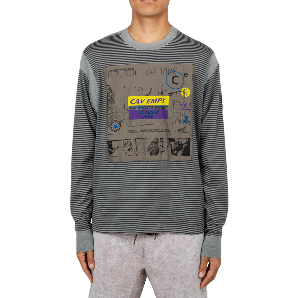 Cav Empt SS19 Taking Hold L/S Tee, Grey