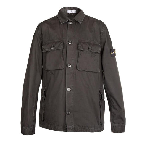 Stone Island Shirt Jacket (Black)