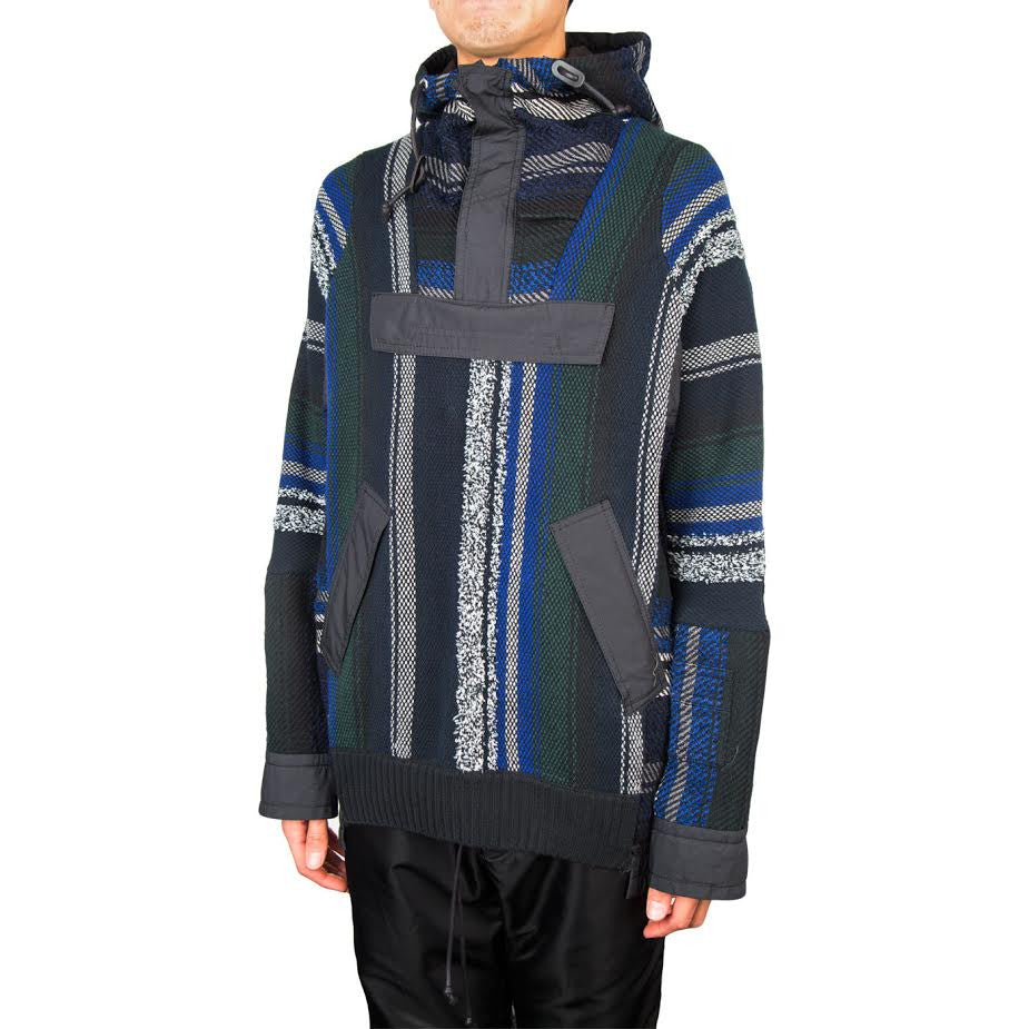 Sacai Mexican Stripe Knit Blouson (Namul/Navy/Multi)