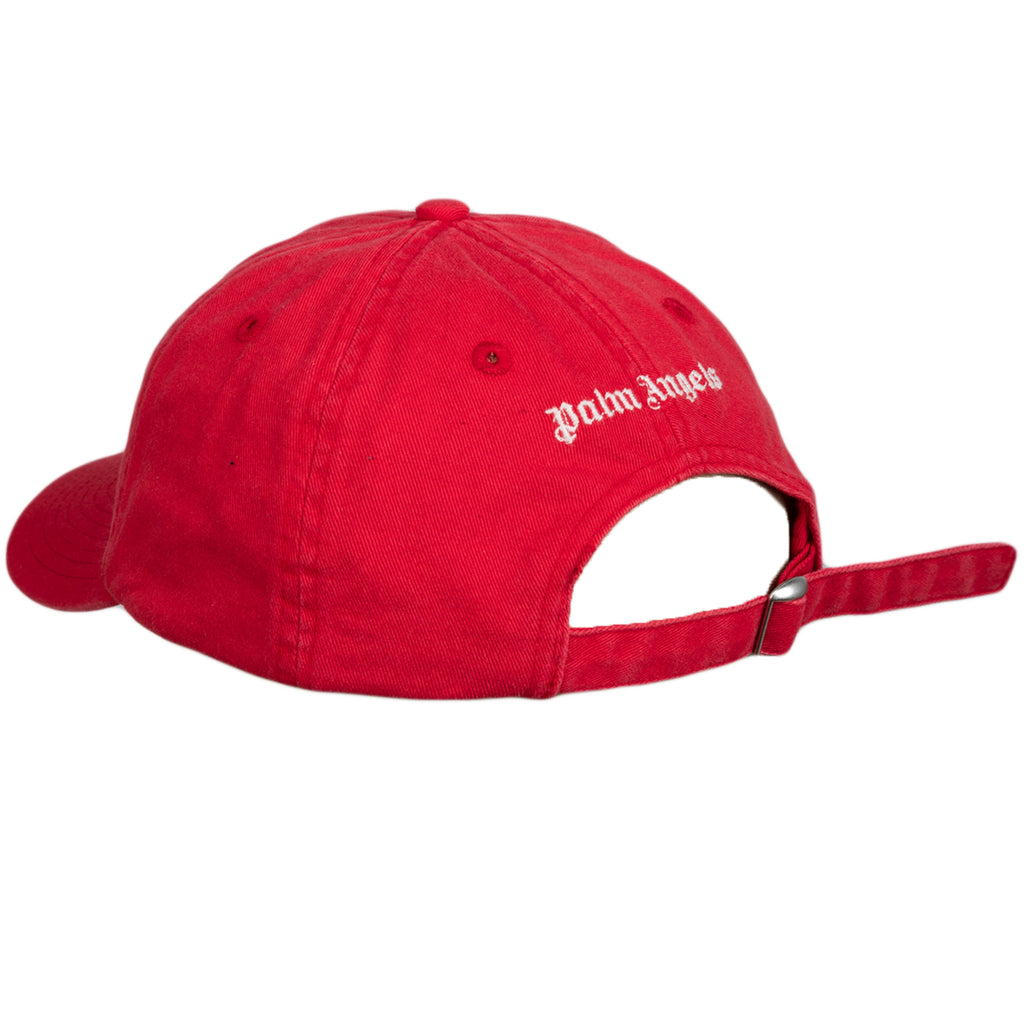 Palm Angels FW19 Metal Palm Baseball Cap, Red/White