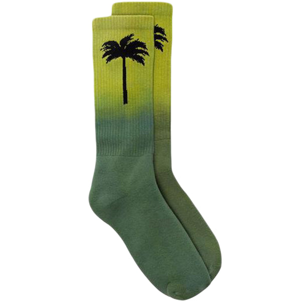 Palm Angels FW19 Palm Socks, Green/Black