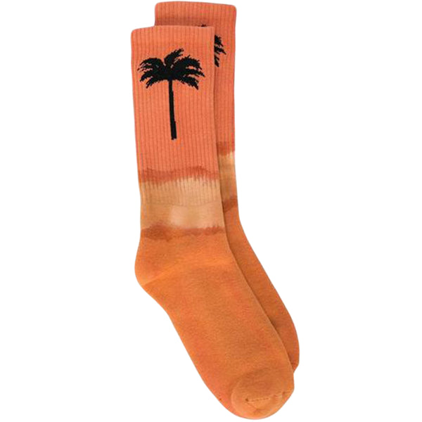 Palm Angels FW19 Palm Socks, Orange/Black