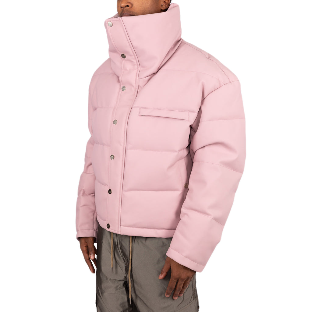 Feng Chen Wang FW19 High Neck Puffer Jacket, Rose
