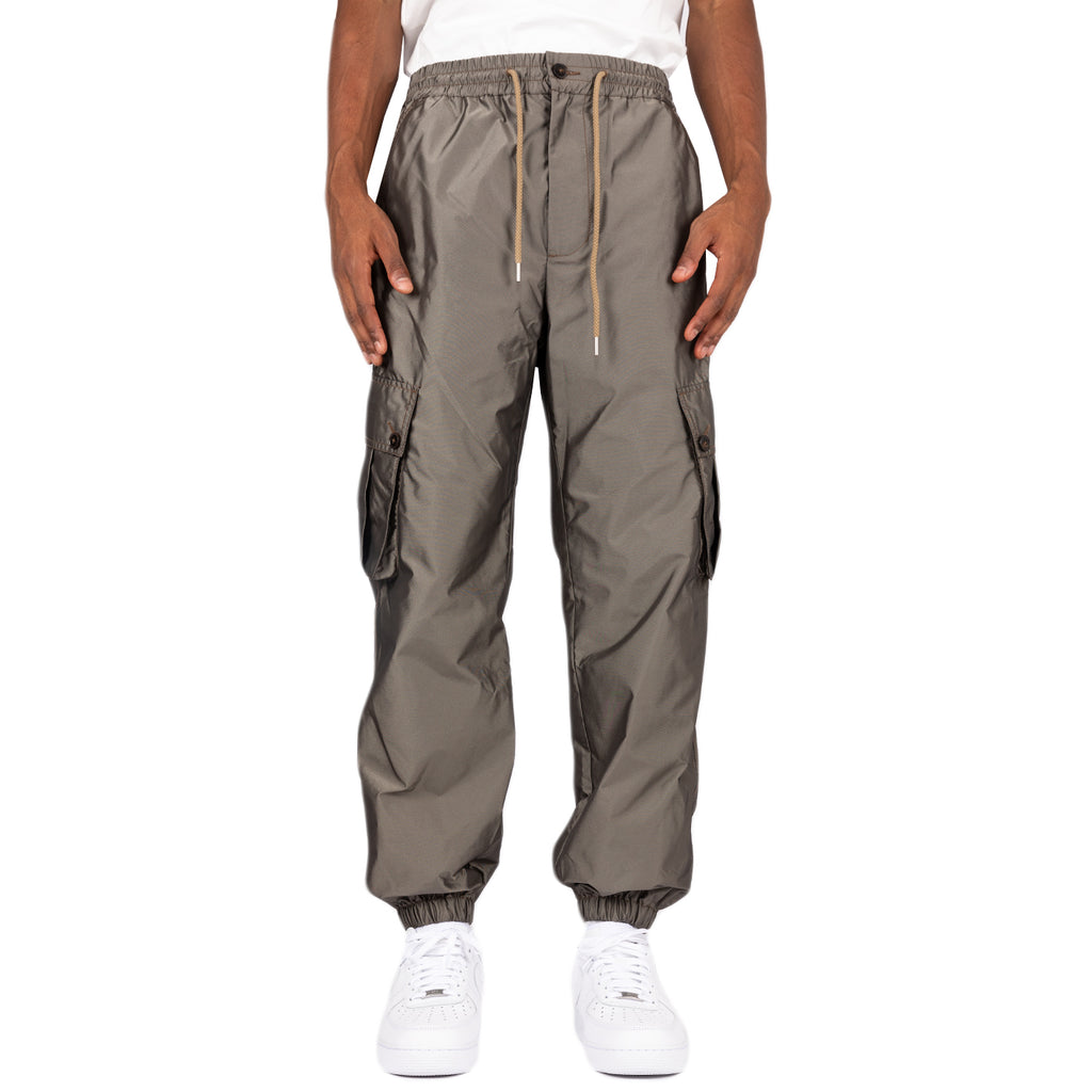 Feng Chen Wang FW19 Elasticated Hem Cargo Trousers, Dark Khaki