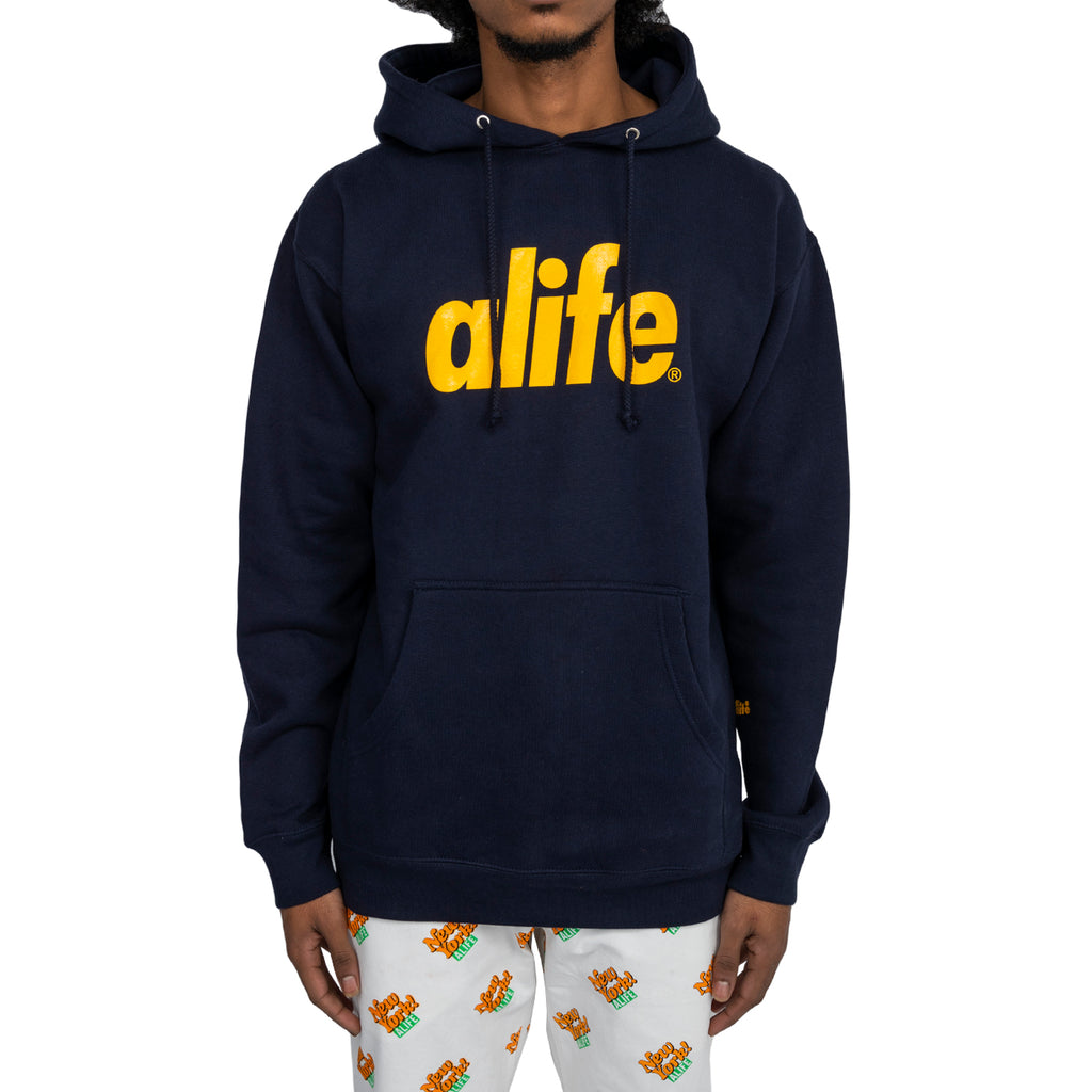 Alife FW19 Core Logo Pullover, Royal