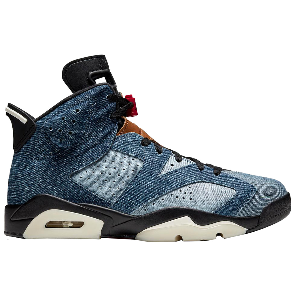 Air Jordan 6 Retro, Washed Blue/Black-Sail
