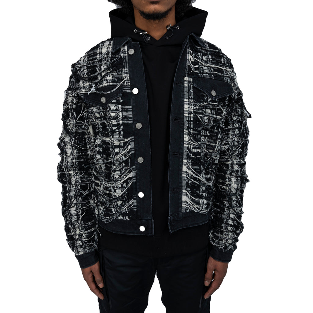 1017 Alyx 9sm FW19 Spider Plaid Denim Jacket, Black