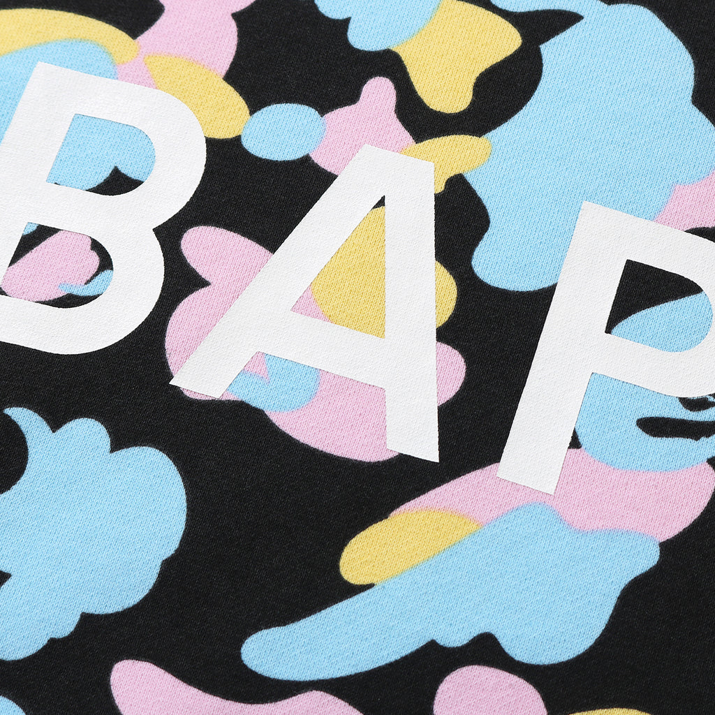 Bape SS21 New Multi Camo Bape Relaxed Crewneck, Black