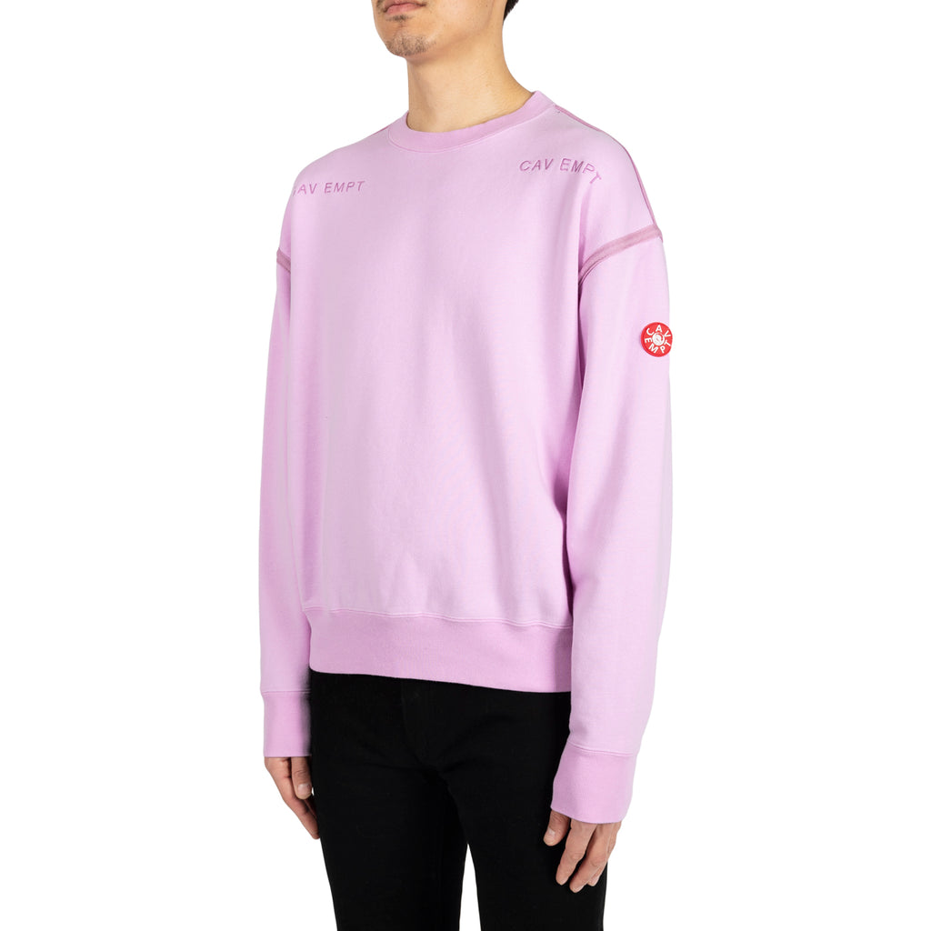 Cav Empt SS19 Disappearance Crewneck, Pink