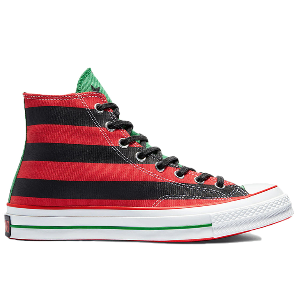 Converse x Denim Tears CT70 Hi, Black Beauty/Fiery