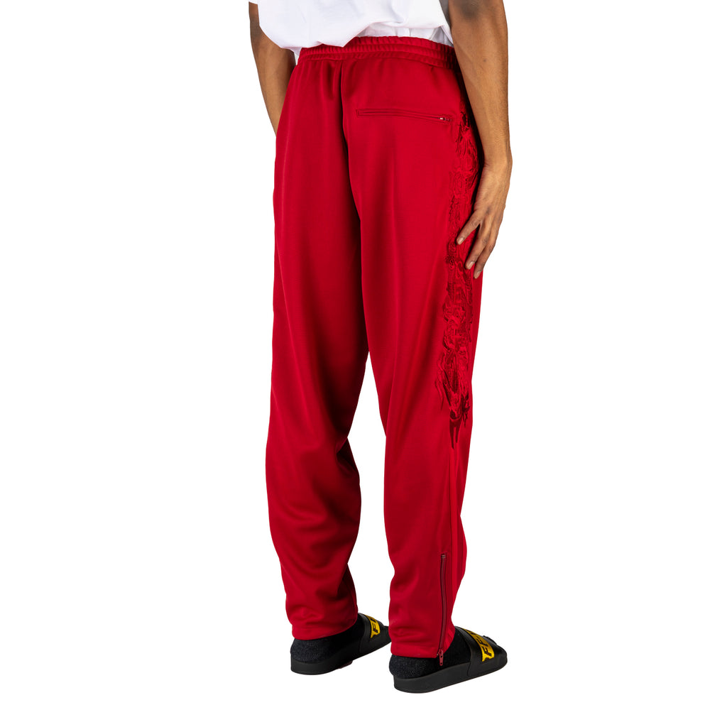 Doublet SS20 Chaos Embroidery Track Pants, Red