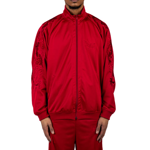Doublet SS20 Chaos Embroidery Track Jacket, Red
