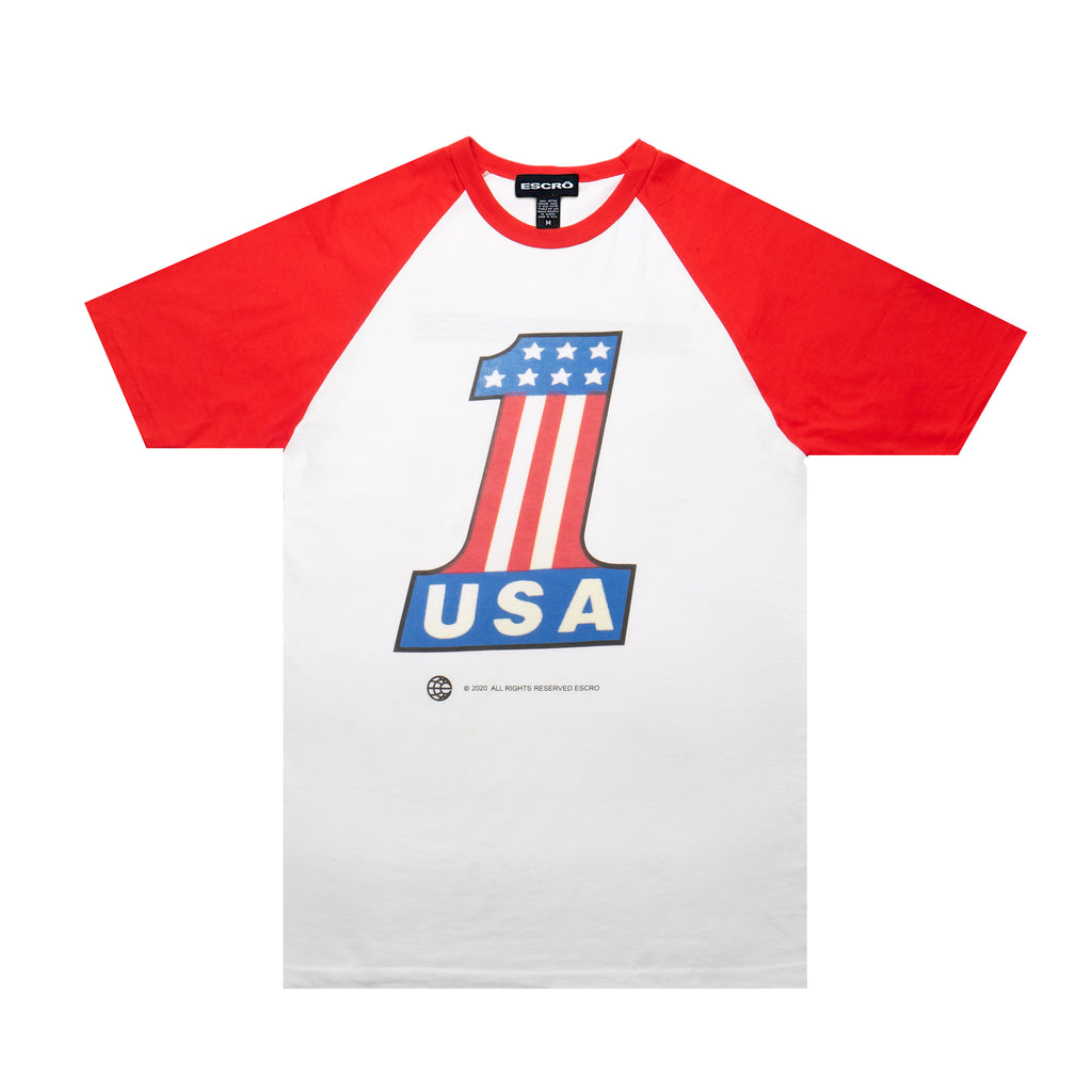 Escro The Freedom Commission Tee, White/Red