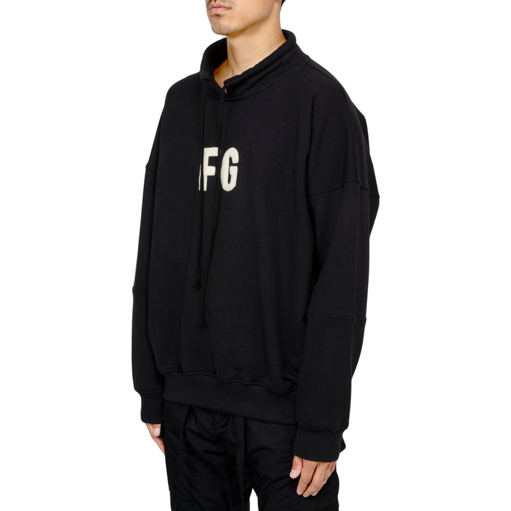 "Fear Of God FW19 Mock Neck ""FG"" Pullover, Vintage Black"