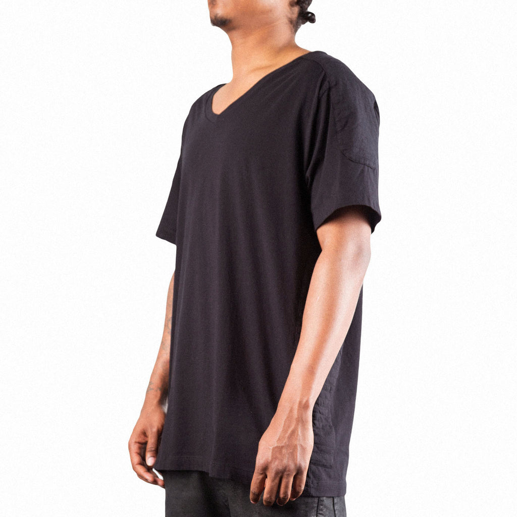 Pierre Balmain V Neck Panel Tee (Black)