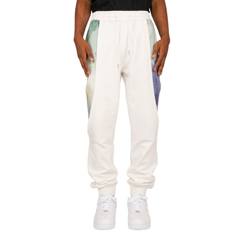 Feng Chen Wang FW19 Printed Layered Sweatpants, White